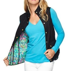 NWT Lilly pulitzer Getaway quilted puffy vest XXS